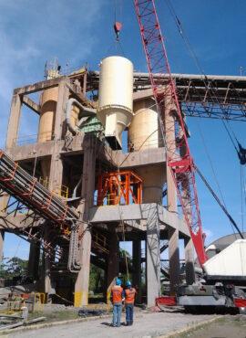 Montaje de silo