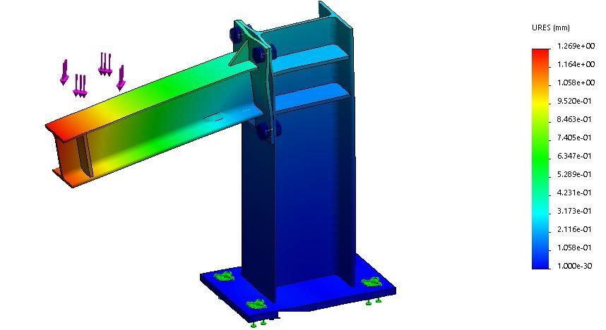 Simulación de apoyo (estructuras metálicas)